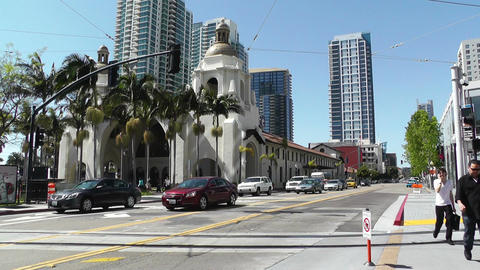 San Diego Downtown 07 Stock Video Footage