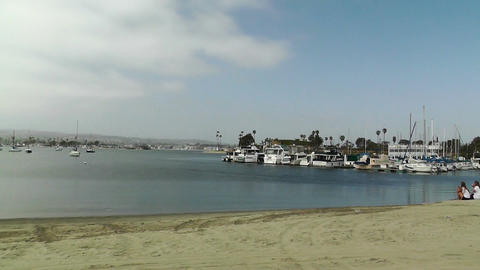 San Diego Mission Bay 02 pan right Footage
