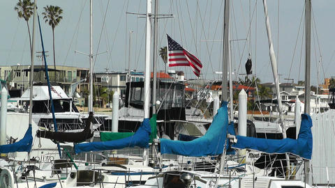 San Diego Mission Bay 15 port Stock Video Footage