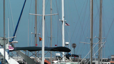 San Diego Mission Bay 17 port Stock Video Footage
