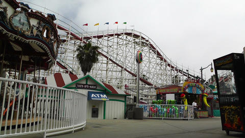 San Diego Mission Bay Amusement Park 02 Stock Video Footage