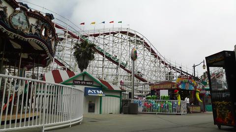 San Diego Mission Bay Amusement Park 02 Stock Video Footage