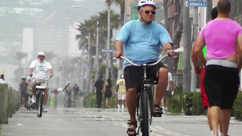 San Diego Mission Bay Beach 01 heat mirage Stock Video Footage