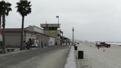 San Diego Mission Bay Beach 05 Stock Video Footage