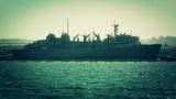 San Diego US Naval Base battleship 04 stylized Footage