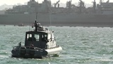 San Diego US Naval Base Security Guard Boat 02 Footage
