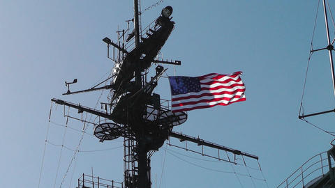 San Diego US Naval Base USS Midway Carrier 02 Stock Video Footage