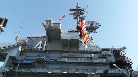 San Diego US Naval Base USS Midway Carrier 04 Stock Video Footage