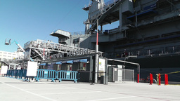 San Diego US Naval Base USS Midway Carrier 06 Stock Video Footage