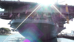 San Diego US Naval Base USS Midway Carrier 14 Stock Video Footage