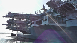 San Diego US Naval Base USS Midway Carrier 16 Stock Video Footage