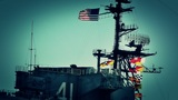 San Diego US Naval Base USS Midway Carrier 18 stylized Footage