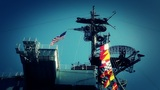 San Diego US Naval Base USS Midway Carrier 22 stylized Footage
