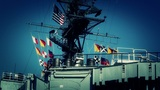 San Diego US Naval Base USS Midway Carrier 24 stylized Footage