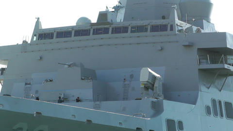 San Diego US Naval Base USS San Diego LPD22 battleship 02 Stock Video Footage
