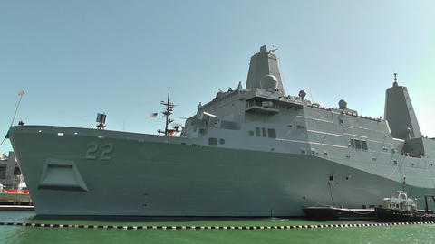 San Diego US Naval Base USS San Diego LPD22 battleship 04 Footage