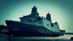 San Diego US Naval Base USS San Diego LPD22 battleship 08 stylized Footage