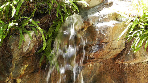 Tropical Waterfall 01 60fps native slowmotion Stock Video Footage