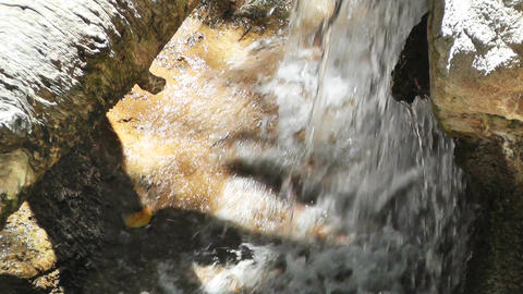 Tropical Waterfall 05 60fps native slowmotion Stock Video Footage