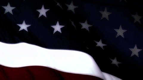 USA Flag closeup stylized Stock Video Footage