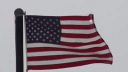 USA flag in strong wind 60 fps native slowmotion 01 Stock Video Footage
