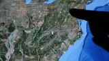 touch globe map on ipad,enlarged to Washington city of American United States Footage