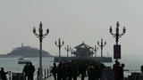 Many people at Qingdao pier of Qingdao Seaside Footage