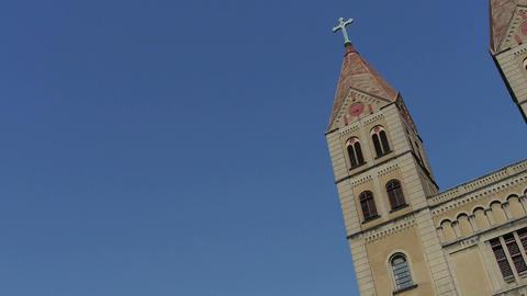 Panoramic of Qingdao Catholic Church Stock Video Footage