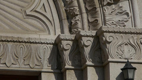 Qingdao Catholic Church's baroque carved stone sculpture Stock Video Footage