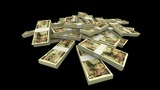 Falling 10000 Japanese Yen (JPY) Packs (with Matte) stock footage