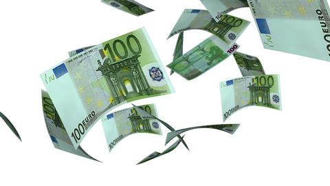 Falling Euro (Loop on White) Stock Video Footage