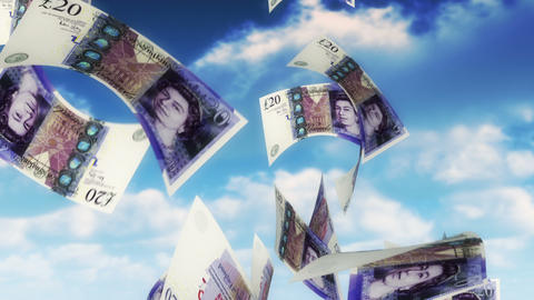 Money from Heaven - GBP (Loop) Stock Video Footage
