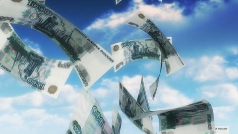 Money from Heaven - RUB (Loop) Stock Video Footage