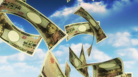 Money from Heaven - JPY (Loop) Stock Video Footage