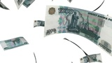 Falling Rubles (Loop On White) stock footage