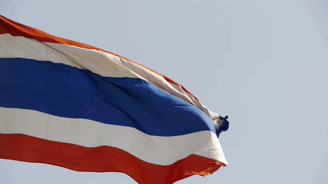 Thailand flag is fluttering in wind Stock Video Footage