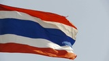 Thailand Flag Is Fluttering In Wind. stock footage