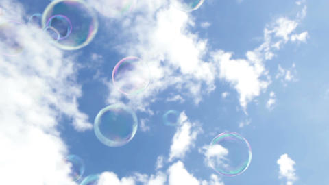 Soapy bubbles in the sky Stock Video Footage