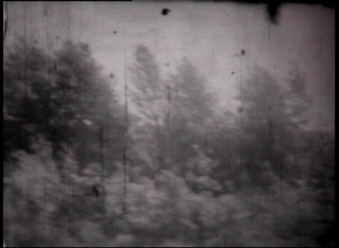Montage of views clips through the train window, vintage... Stock Video Footage