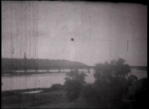 Montage of views clips through the train window, vintage bw 8mm footage Footage
