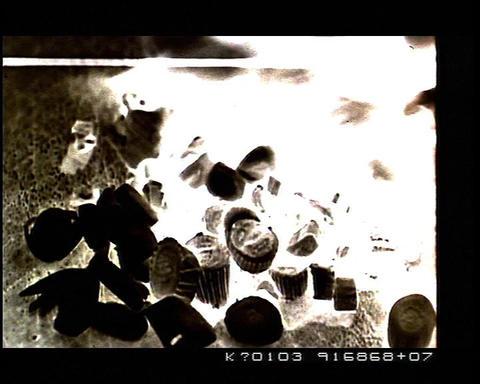 Negative 35mm film cuts, edits, black&white Stock Video Footage