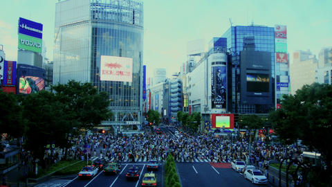 [Time Lapse] Shibuya Cloud part.01 Stock Video Footage