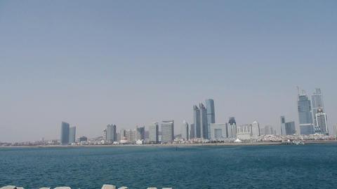 Seaside city,skyscrapers Stock Video Footage