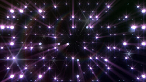 LED Light Space Hex 4r Af HD Stock Video Footage