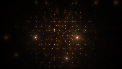 LED Light Space Hex 4r Df HD Stock Video Footage