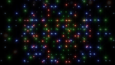 LED Light Space Hex 4r E 2 HD Stock Video Footage