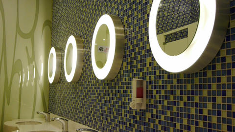 Luxurious faucets toilets,Mosaic Stock Video Footage