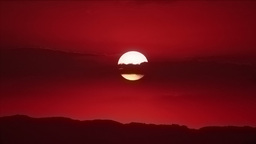 Red sunset with clouds Stock Video Footage