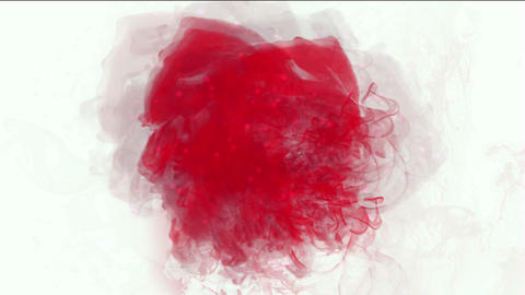 blood & plasma,splash red fluid & smoke Animation