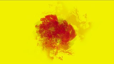 blood & plasma,splash red fluid & smoke Stock Video Footage